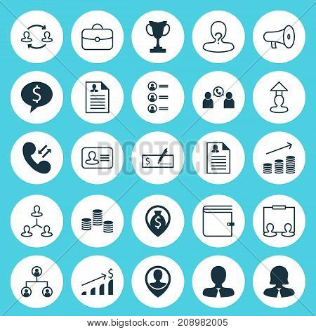 Management Icons Set. Collection Of Team Structure, Increase, Anonymous And Other Elements