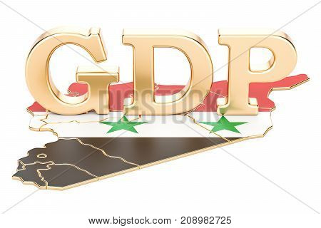 gross domestic product GDP of Syria concept 3D rendering isolated on white background