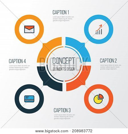 Job Colorful Outline Icons Set. Collection Of Bank Cash, Financial Profit, Message And Other Elements