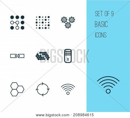 Robotics Icons Set. Collection Of Computing Problems, Variable Architecture, Related Information And Other Elements