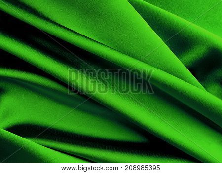 Green new year smooth silk background.