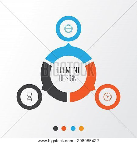 Web Icons Set. Collection Of Time, Refuse, Hourglass And Other Elements