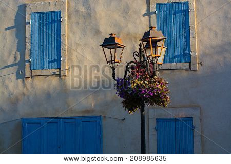 Lifestyle Of Provence - Details And Elements Of French Houses And Architecture In Small Medirval Vil