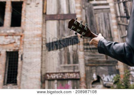 musician guitar player serenade practice performer concept