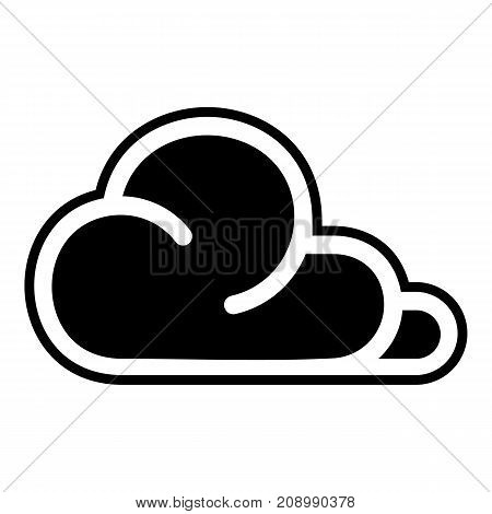 Concept cloud icon. Simple illustration of concept cloud vector icon for web