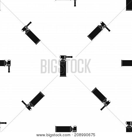Gas cylinder pattern repeat seamless in black color for any design. Vector geometric illustration