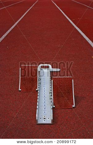 Starting Block Athletic And Running Track