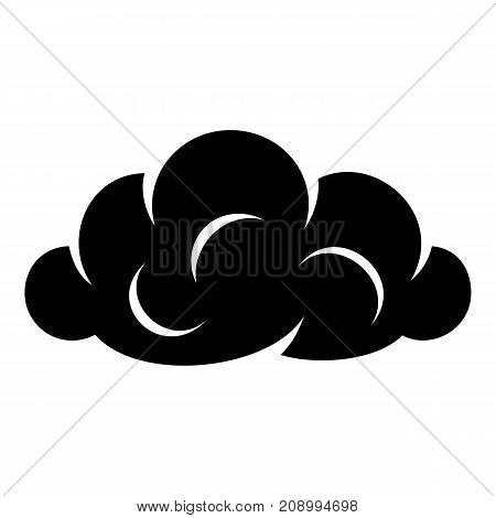Information cloud icon. Simple illustration of information cloud vector icon for web