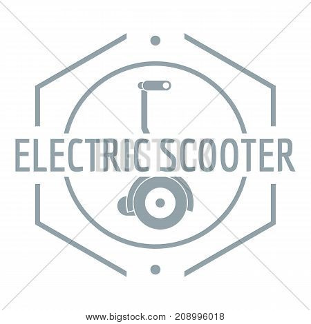 Electric scooter logo. Simple illustration of electric scooter vector logo for web