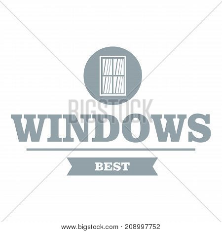 Best window logo. Gray monochrome illustration of best window vector logo for web