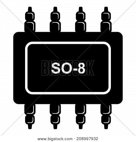 Transistor microchip icon. Simple illustration of transistor microchip vector icon for web