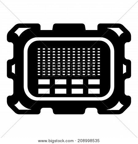 Central microchip icon. Simple illustration of central microchip vector icon for web