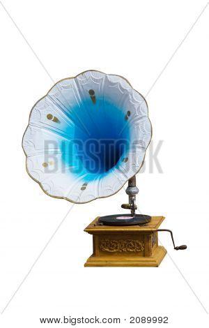Retro Gramophone With Disc