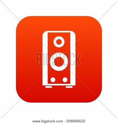 Black sound speaker icon digital red for any design isolated on white vector illustration