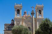 Beautiful exterior Church of St Philip of Agira, Roman Catholic Parish Church in Haz-Zebbug, Malta, EU, April 2017 poster