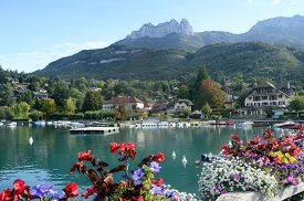 Annecy Lake And Talloires Village, Savoy