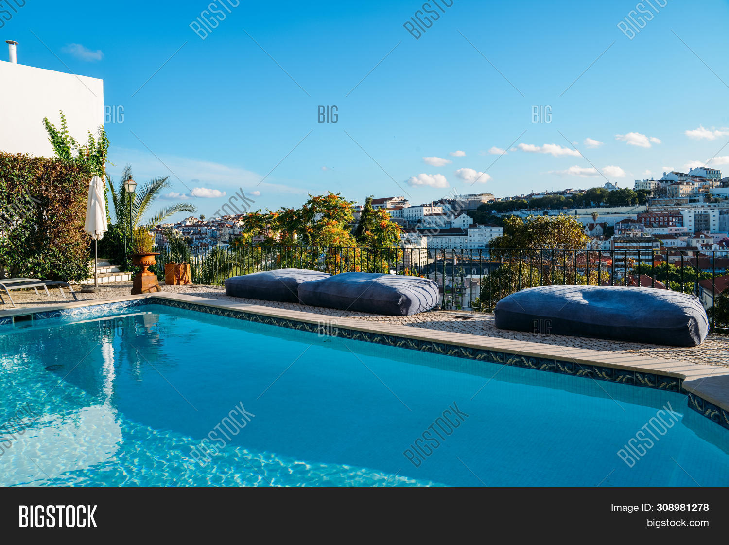 Swimming Pool On Roof Image Photo