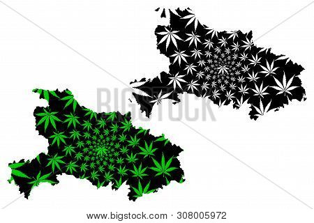 Hubei Province (administrative Divisions Of China, China, People's Republic Of China, Prc) Map Is De