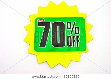 seventy percent off reduction prize