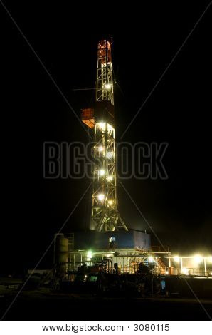 Oil Drill At Night