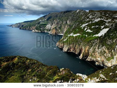 Cliffs of Slieve in Ireland