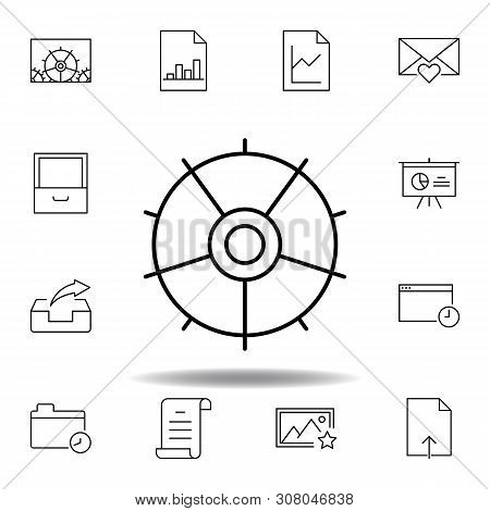 adjustment configuration tune outline icon. Detailed set of unigrid multimedia illustrations icons. Can be used for web, logo, mobile app, UI, UX poster