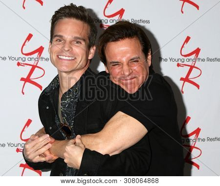 LOS ANGELES - JUN 23:  Greg Rikaart, Christian LeBlanc at the Young and The Restless Fan Club Luncheon at the Marriott Burbank Convention Center on June 23, 2019 in Burbank, CA