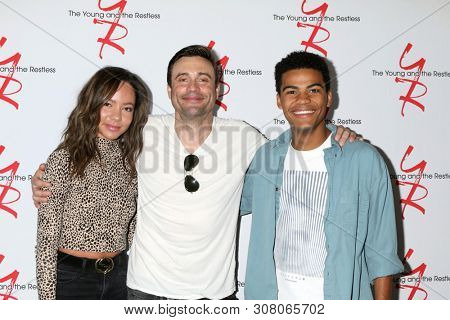 LOS ANGELES - JUN 23:  Lexie Stevenson, Daniel Goddard, Noah Alexander Gerry at the Young and The Restless Fan Club Luncheon at the Marriott Burbank Convention Center on June 23, 2019 in Burbank, CA