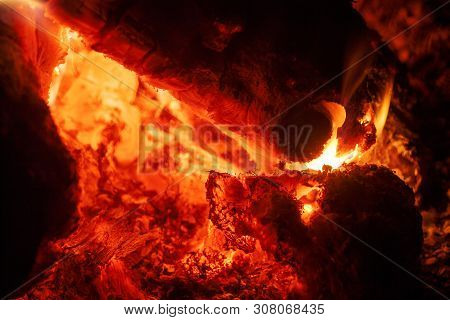 Grill Woods On Fire Macro Background Fine Art In High Quality Products
