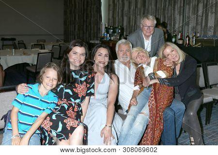 LOS ANGELES - JUN 22:  Finnegan George, Heather Tom, R Sofer, John McCook, Alley Mills, Dick Christie, K K Lang at the B & B Fan Club Luncheon at the Marriott Burbank Convention Center in Burbank, CA