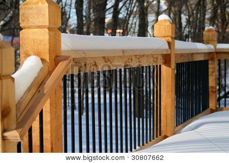 Snow Cap Railing