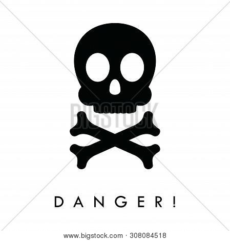 Danger Icon Isolated On White Background. Warning Icons, Danger Icon Simple Sign. Danger Icon Trendy