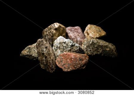 Rocks On Black Background