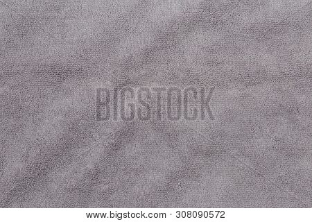 Gray Bath Towel, Gray Bath Towel Texture For Background And Design