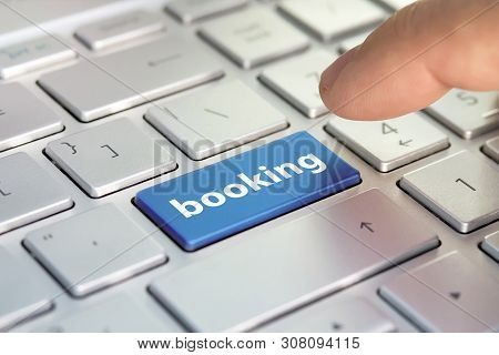 Booking Tickets For Transport On The Internet. Hotel Reservation Online. Flight Booking, Plane Trave
