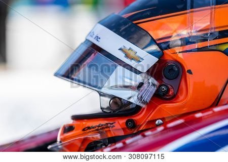 June 22, 2019 - Elkhart Lake, Wisconsin, USA: MATHEUS LEIST (4) of Brazil prepares to qualify for the REV Group Grand Prix at Road America in Elkhart Lake, Wisconsin.