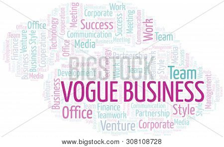 Vogue Business Word Cloud. Collage Made With Text Only.