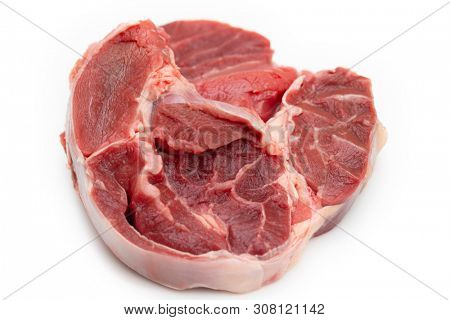 Raw boneless beef shank for slow-cooking or pressure cooking
