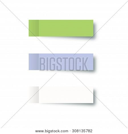 Sticky Post Note Collection. Sticky Post Note Colorful. Stickers With Shadow