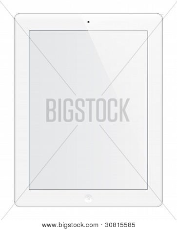 Isolated white tablet editable with white screen poster
