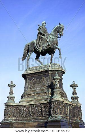 Statue Of King John Of Saxony In Dresden, G