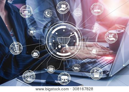 Shopping Online And Internet Money Technology.