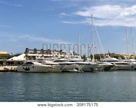 Majorca Cala Bona Marina Port Son Servera Mallorca In Balearic Islands Of Spain Playa De Formentor C