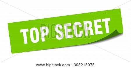 Top Secret Square Sticker. Top Secret Sign. Top Secret Banner