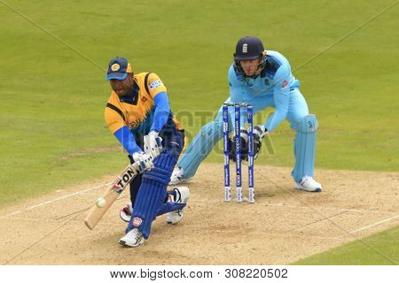 LEEDS, ENGLAND. 21 JUNE 2019: The England v Sri Lanka, ICC Cricket World Cup match, at Headingley, Leeds, England.