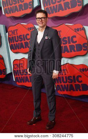 NASHVILLE, TN-JUNE 4: Morning radio host Bobby Bones attends the 2014 CMT Music Awards at the Bridgestone Arena on June 4, 2014 in Nashville, Tennessee.