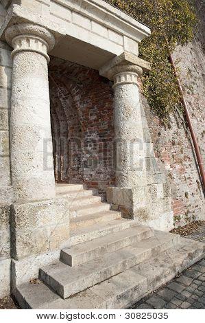 Stony entrance