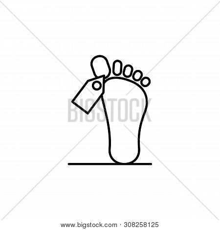 Dead, Leg, Death Outline Icon. Detailed Set Of Death Illustrations Icons. Can Be Used For Web, Logo,