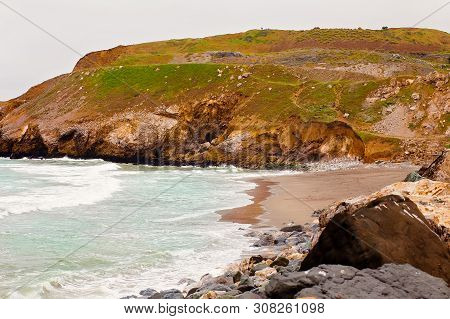 Landscape Photo Of Coastal Hiking Trails Surrounding Rockaway Beach, Pacifica, California
