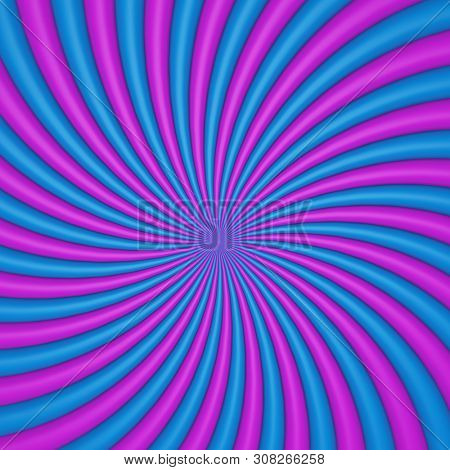 Colorful Blue and Purple Candy Twist Background. 3D Illustration.